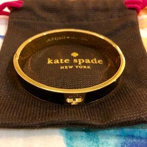 Kate Spade Black/Gold Spade cuff bracelet